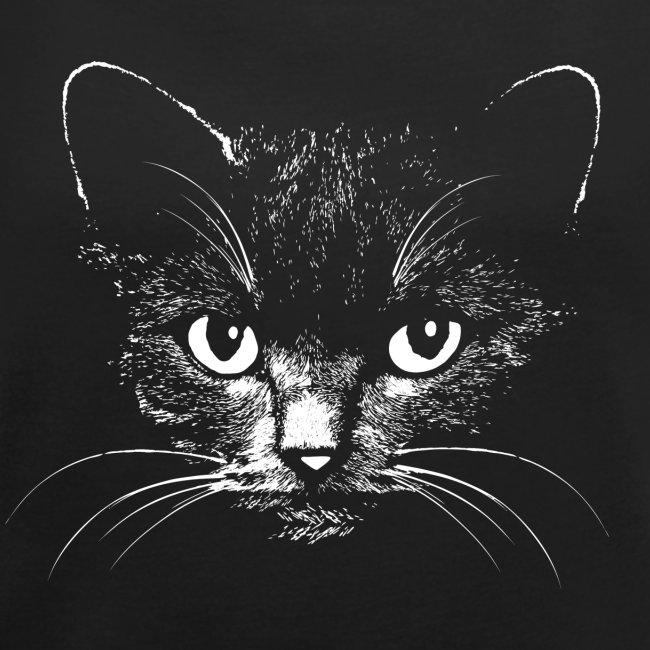 Vorschau: black cat - Frauen T-Shirt mit gerollten Ärmeln