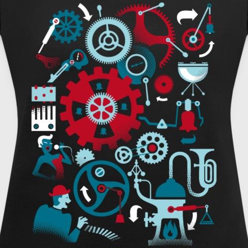 Machine musicale - T-shirt à manches retroussées Femme