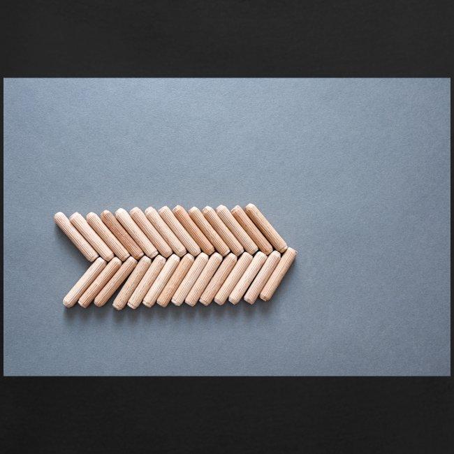 Holzdübel als Gräte