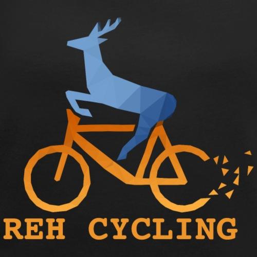 Reh Cycling Polygon - Frauen T-Shirt mit gerollten Ärmeln