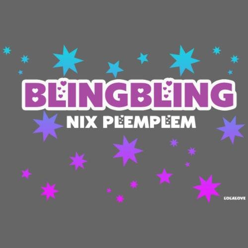 blingbling nixplemplem - Frauen T-Shirt mit gerollten Ärmeln