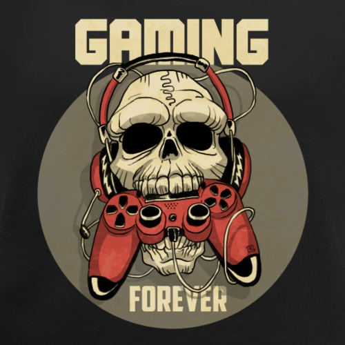 Gaming For Ever - T-shirt à manches retroussées Femme