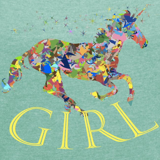 unicorn girl T-shirt
