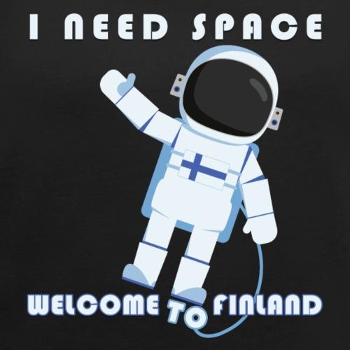 Space - Naisten T-paita, jossa rullatut hihat
