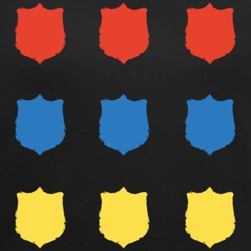 Scudi Colorati png - Maglietta da donna con risvolti