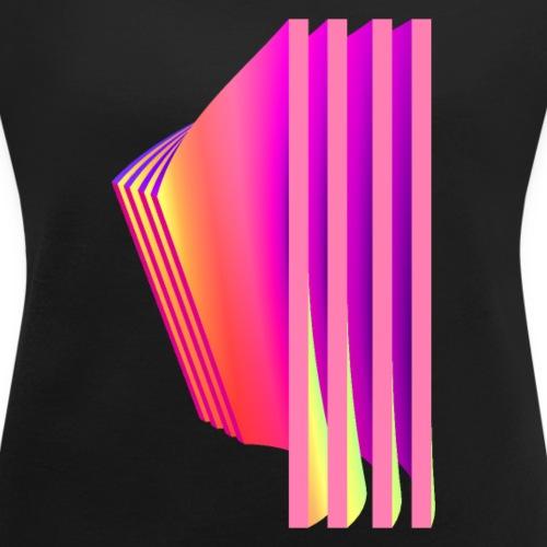 bogen neon - Frauen T-Shirt mit gerollten Ärmeln