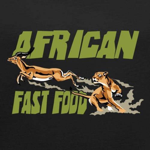 African fast food - Maglietta da donna con risvolti