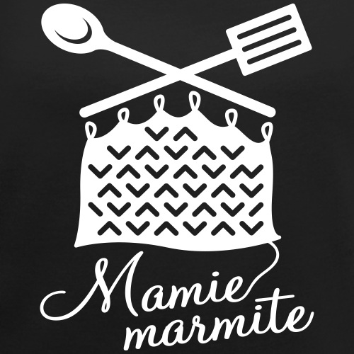 Mamie Marmite Cuisine et Tricot - T-shirt à manches retroussées Femme