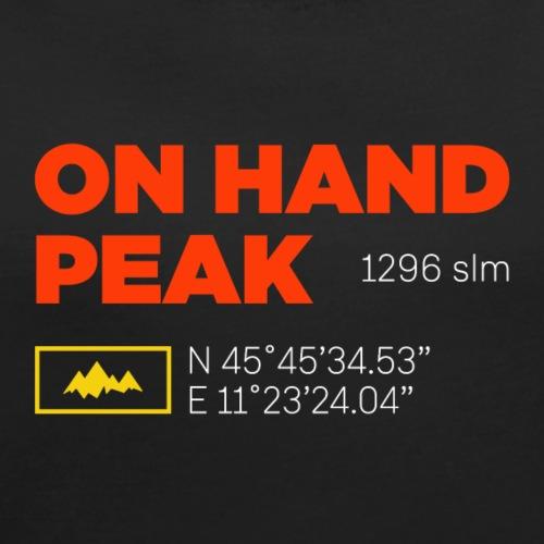 Cima Summano | On hand Peak - Maglietta da donna con risvolti