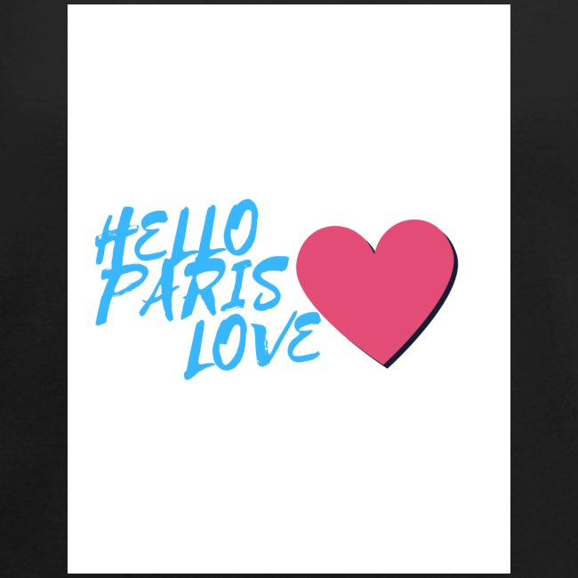 hello paris love bleu
