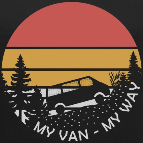 My Van My Way - Frauen T-Shirt mit gerollten Ärmeln