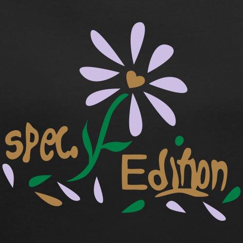 Blüte mit Spruch - Frauen T-Shirt mit gerollten Ärmeln