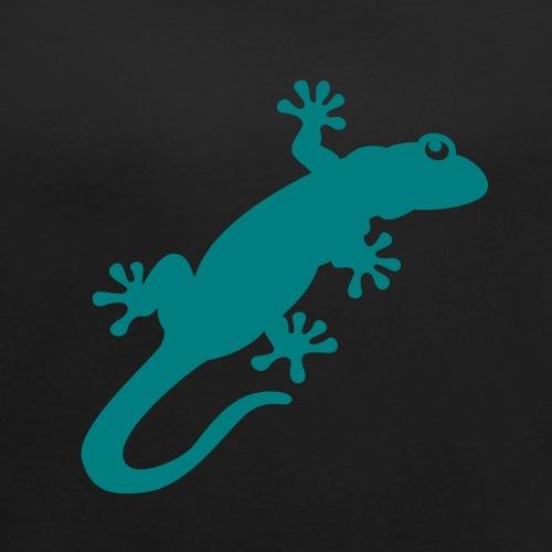 gecko - Frauen T-Shirt mit gerollten Ärmeln