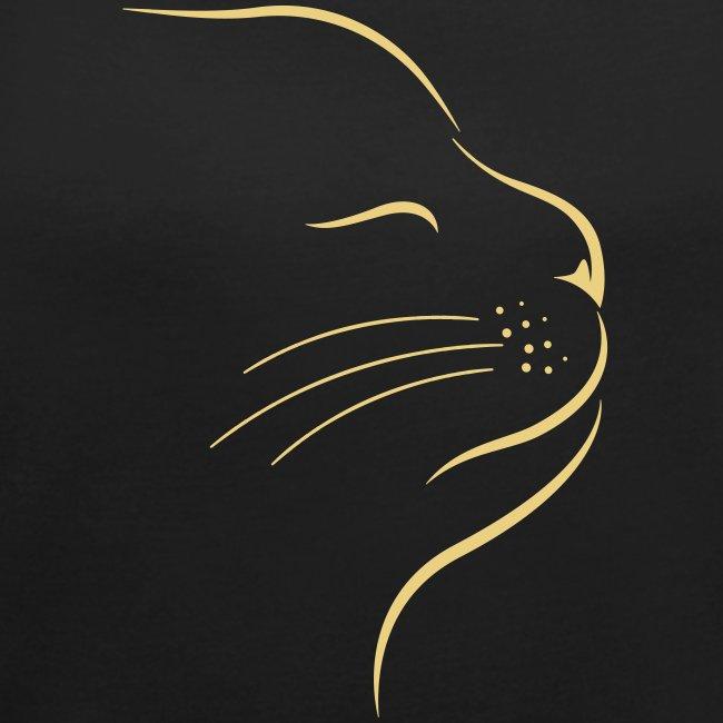 Vorschau: Catstyle - Frauen T-Shirt mit gerollten Ärmeln