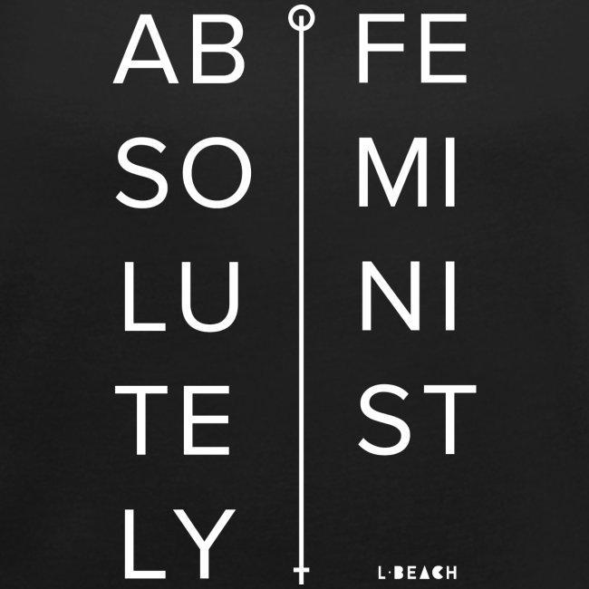 AbsolutelyFeminist Weiss mitLB Logo