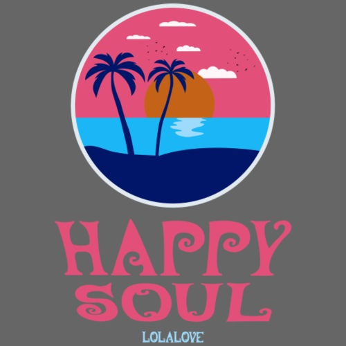 Happy Soul! - Frauen T-Shirt mit gerollten Ärmeln