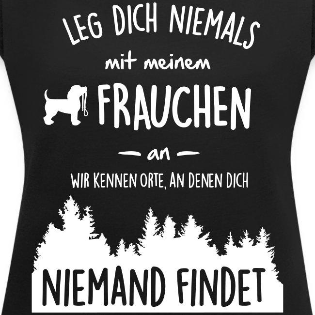 Vorschau: Mein Frauchen - Frauen T-Shirt mit gerollten Ärmeln
