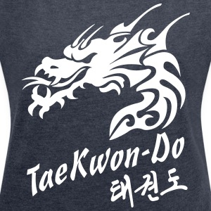 Taekwondo Dragon - Women's T-shirt with rolled up sleeves