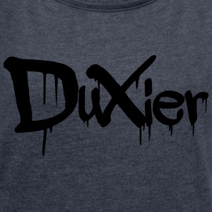 Duxier dripping - Women's T-shirt with rolled up sleeves