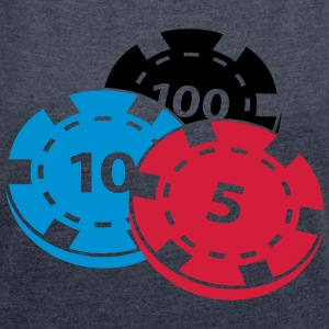 Poker chips - Women's T-shirt with rolled up sleeves