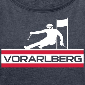 Ski Alpin_Vorarlberg - Women's T-shirt with rolled up sleeves