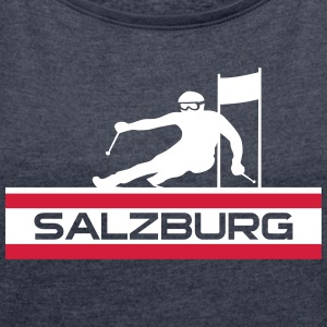 Ski Alpin_Salzburg - Women's T-shirt with rolled up sleeves