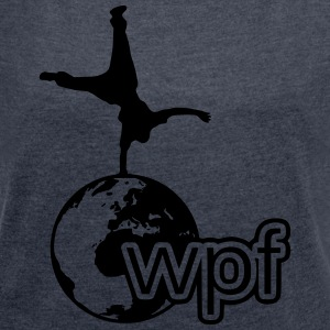WPF Black - Women's T-shirt with rolled up sleeves