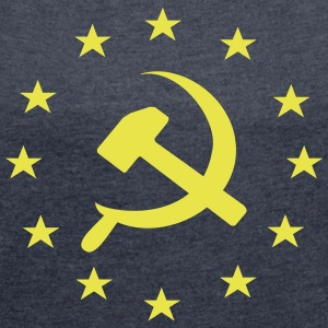 Socialist Communist Europe - Women's T-shirt with rolled up sleeves