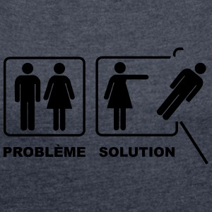 Problem solution - Women's T-shirt with rolled up sleeves