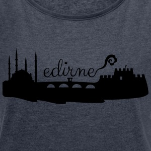 Edirne silhouette - Women's T-shirt with rolled up sleeves