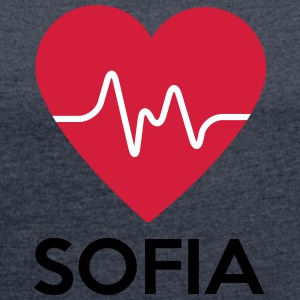 heart Sofia - Women's T-shirt with rolled up sleeves