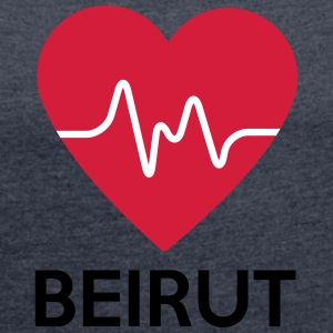 heart Beirut - Women's T-shirt with rolled up sleeves