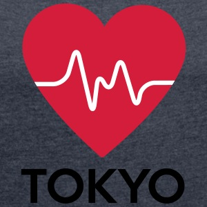 heart Tokyo - Women's T-shirt with rolled up sleeves