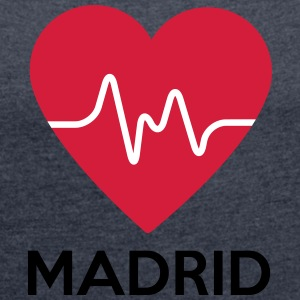 heart Madrid - Women's T-shirt with rolled up sleeves