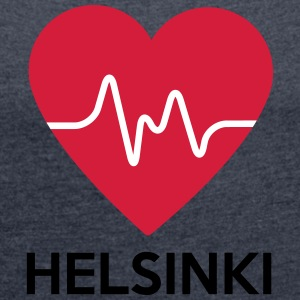 heart Helsinki - Women's T-shirt with rolled up sleeves