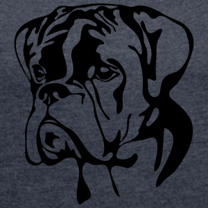 BOXER PORTRAIT - Women's T-shirt with rolled up sleeves