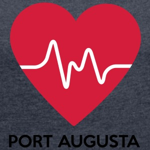 Heart Port Augusta - Women's T-shirt with rolled up sleeves