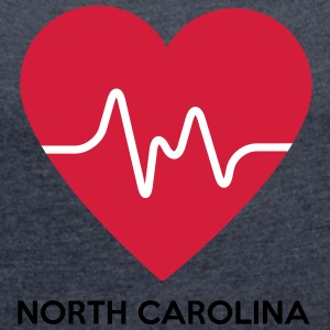 Heart North Carolina - Women's T-shirt with rolled up sleeves