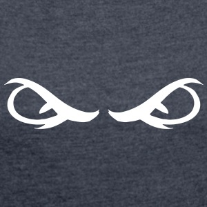 Demonic Eyes - Women's T-shirt with rolled up sleeves