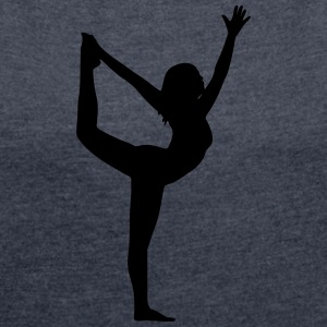 Yoga pose - Women's T-shirt with rolled up sleeves