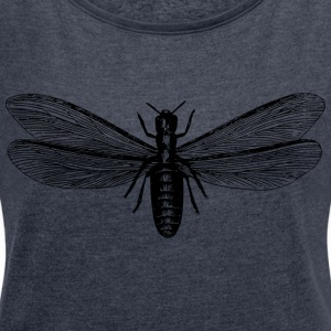 Insect - Women's T-shirt with rolled up sleeves