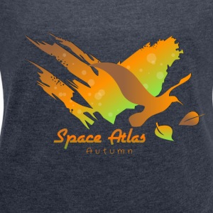 Space Atlas Hoodie Autumn Leaves - Women's T-shirt with rolled up sleeves