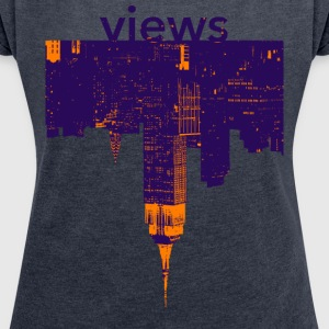 views - Women's T-shirt with rolled up sleeves