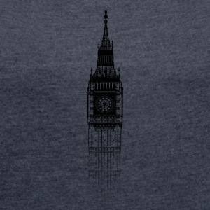Around The World: Big Ben - London - Women's T-shirt with rolled up sleeves