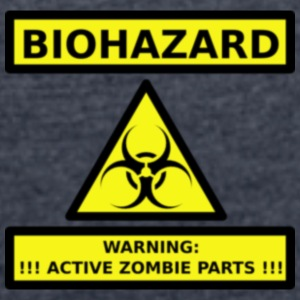 bio-hazard zombie parts - Women's T-shirt with rolled up sleeves