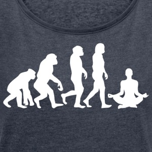 ++ ++ YOGA EVOLUTION - Women's T-shirt with rolled up sleeves