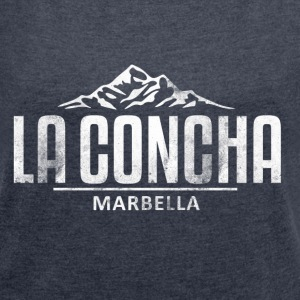 La Concha Vintage White for Marbella - Women's T-shirt with rolled up sleeves