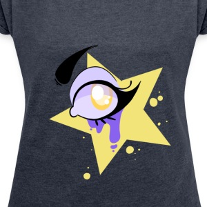 Yellow eye - Women's T-shirt with rolled up sleeves