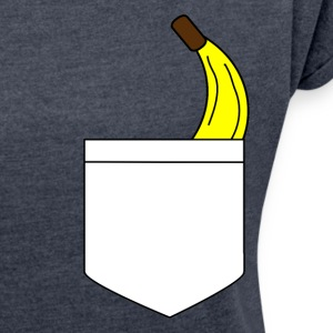 Banana pocket - Women's T-shirt with rolled up sleeves