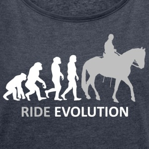 ++ ++ Ride Evolution - T-shirt med upprullade ärmar dam